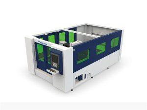 เครื่องตัดไฟเบอร์เลเซอร์ขนาดเล็ก 500 วัตต์สำหรับหลอดและแผ่นปิด