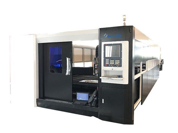 3000 วัตต์ไฟเบอร์ cnc เลเซอร์เครื่องตัดโลหะ gantry โครงสร้างการขับรถคู่